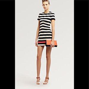 DVF Yazmine striped dress beige red elegant 6